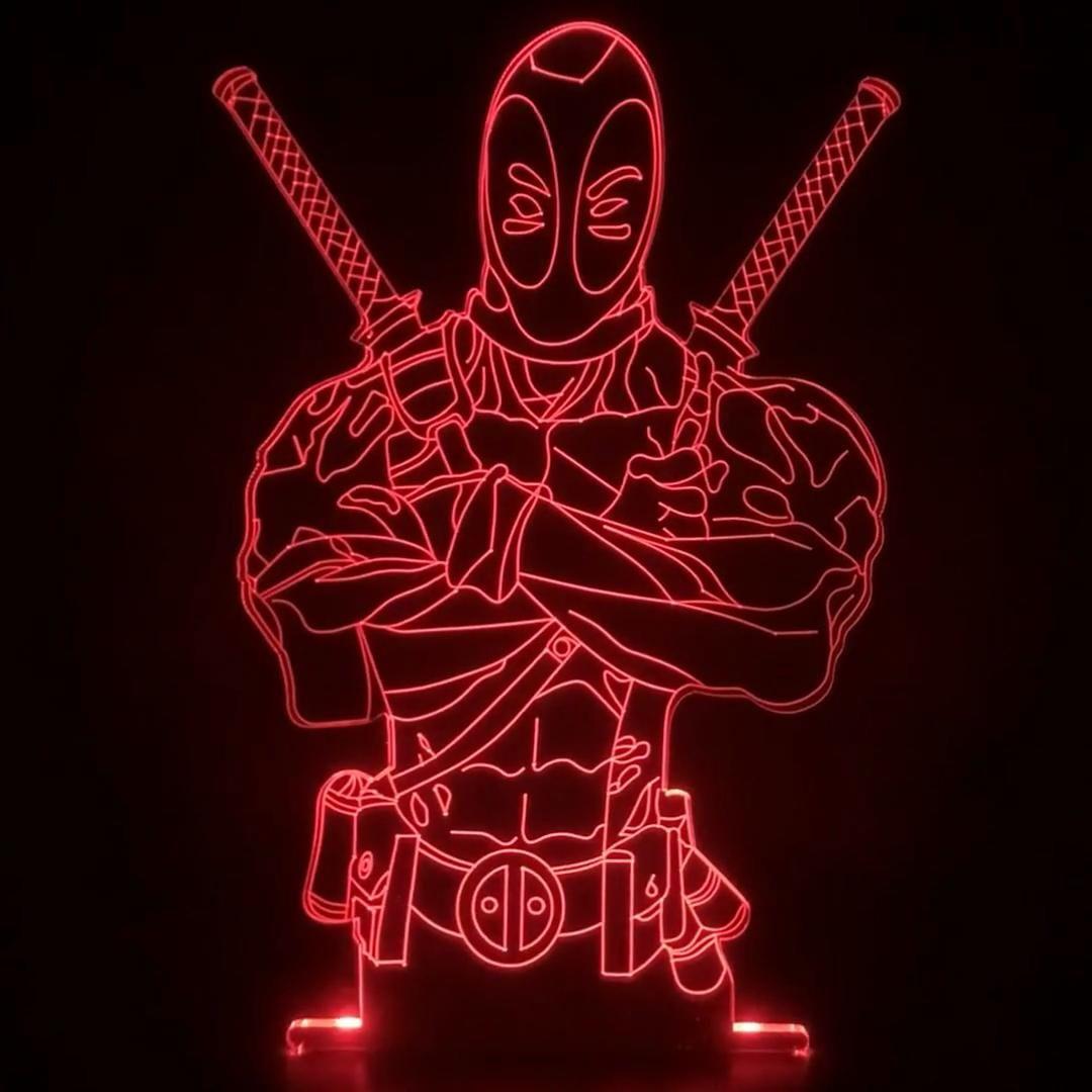 Veilleuse 3D Maexou : Deadpool