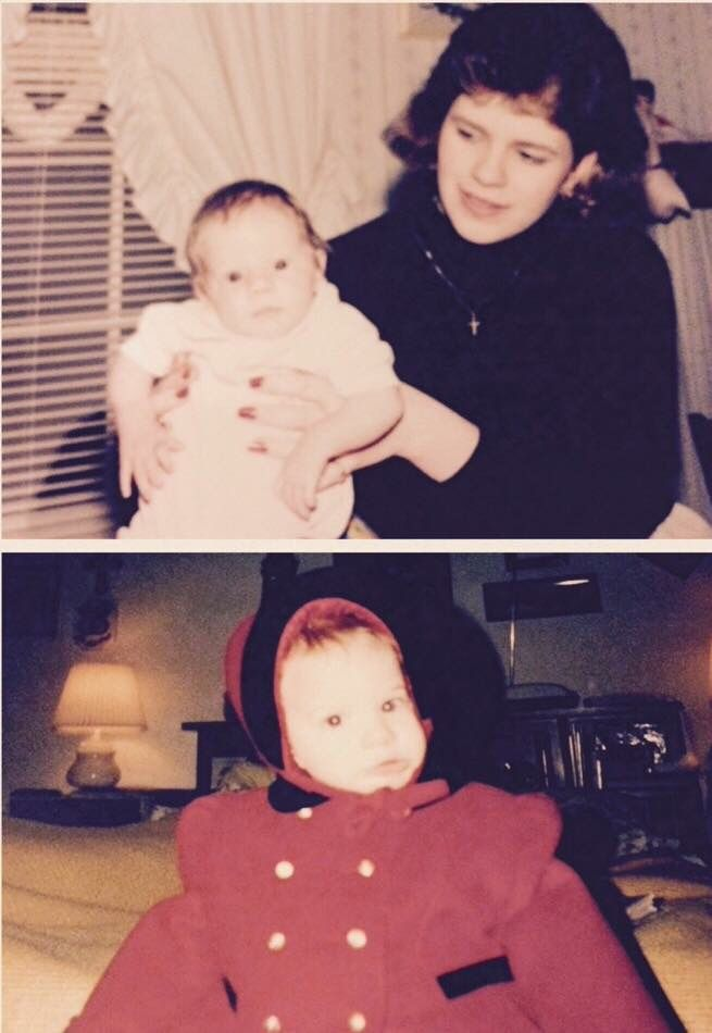 Baby Amanda Lynn and her mommy