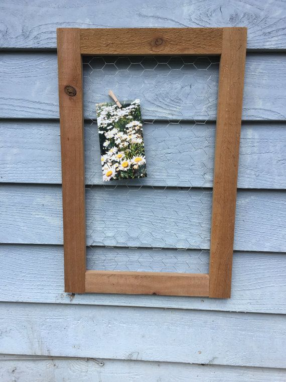 Rustic Cedar Chicken Wire Frame Photo by TimsWoodenTreasures | Cool ...