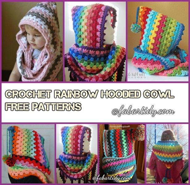 DIY Crochet Hooded Cowl Free Pattern