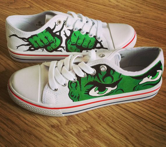 Incredible Hulk Shoes, Marvel Custom Converse