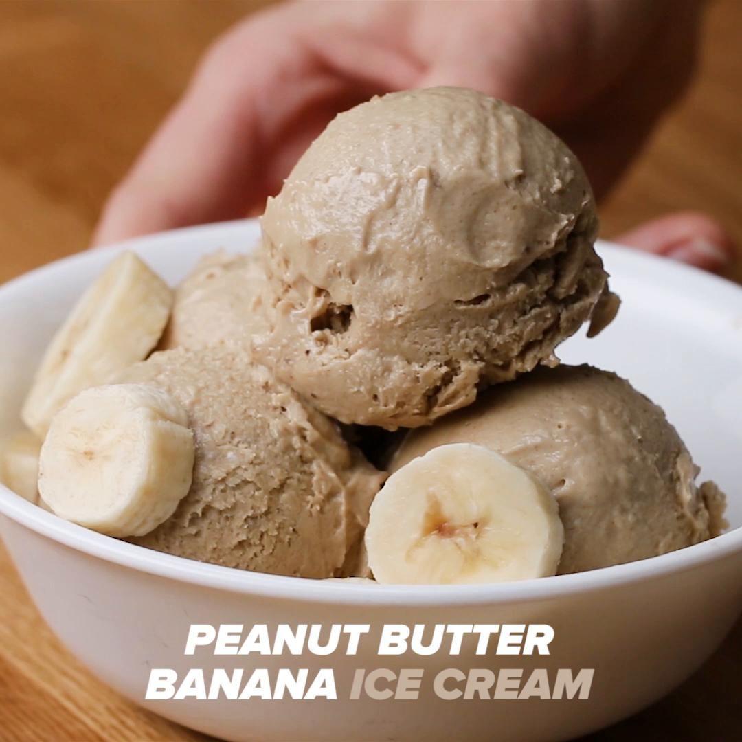 Frozen Banana Ice Cream Recipe By Tasty Recipe Banana Peanut Butter Ice Cream Peanut Butter Ice Cream Frozen Bananas Ice Cream