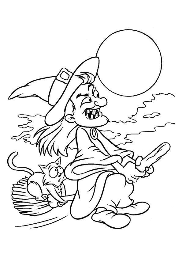 Print Coloring Image Momjunction A Community For Moms Halloween Malning Magiska Symboler Halloween