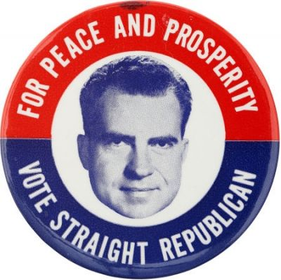 Richard M. Nixon 1960 presidential campaign button