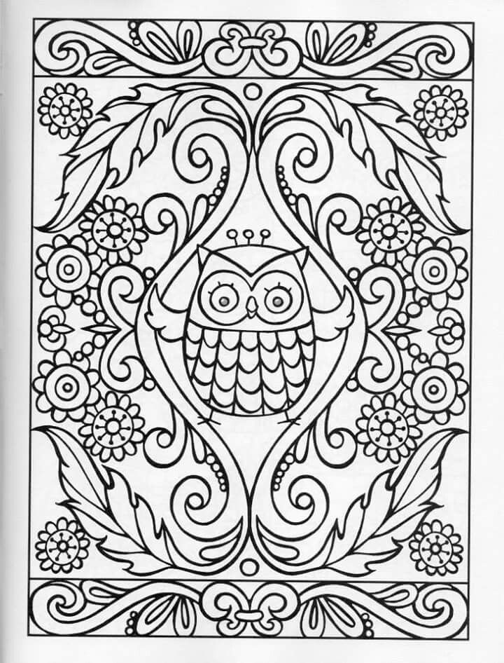 owl coloring pages 100 directions. Black Bedroom Furniture Sets. Home Design Ideas