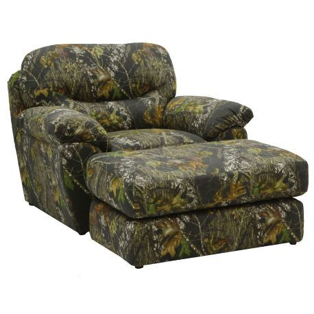Duck Dynasty Cumberland Chair And A Half With Ottoman In