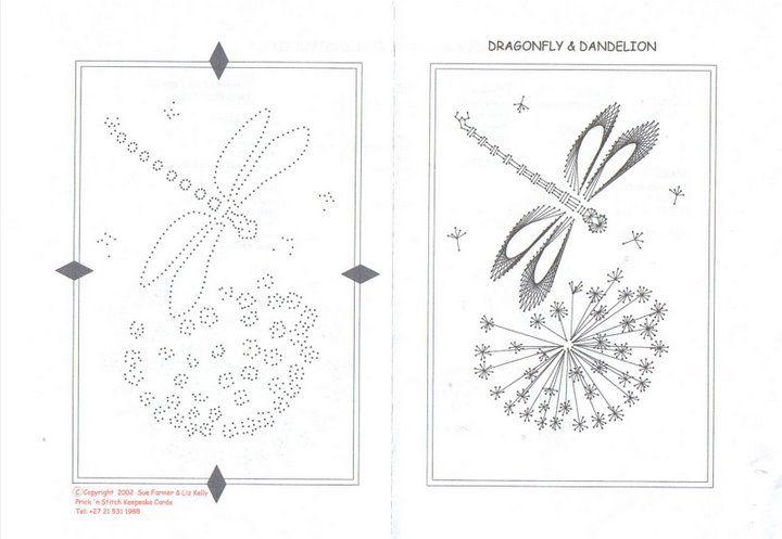 cartes brodees - Page 3 | STRING ART | Pinterest | Libélulas ...