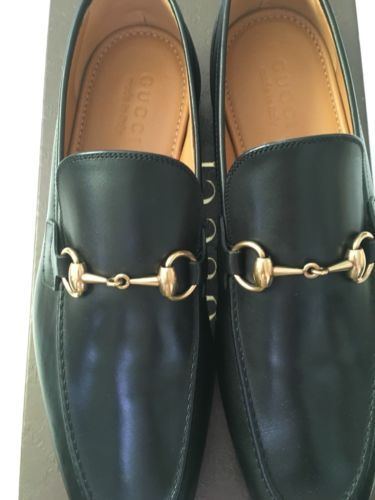 a5fdbf71071 100% Authentic GUCCI Betis Glamour Nero Black Mens Sz 8 Rare Sold Out Brand  New