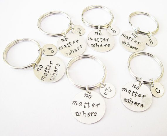 QIIER Long Distance Relationship Gift Leaving Keychain Boyfriend Gift Going Away Gift BFF If There Ever Comes A Day Keychain