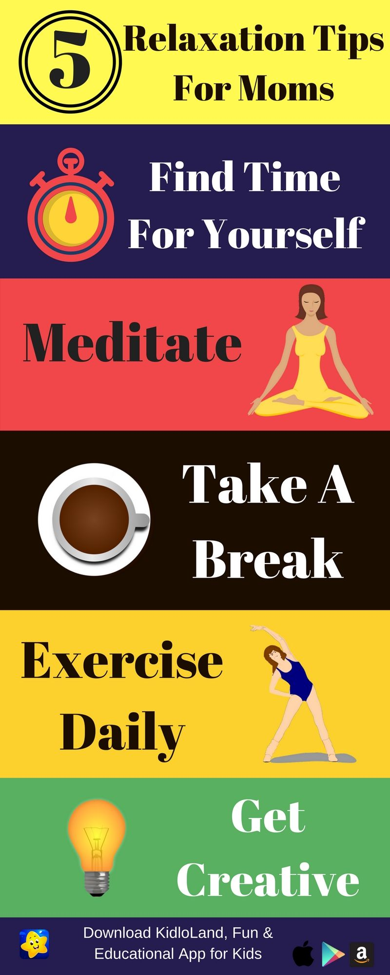 Moms! 5 Relaxation Tips To Make You StressFree Stress