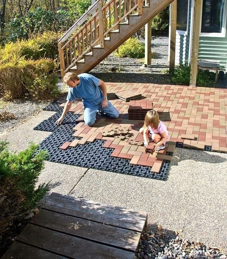 Landscape Patio Menards Patio Blocks For Cozy Your: Perfect Patio Paver Design Ideas