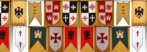 Estandartes Decoraciones Medievales Fiesta Medieval Estandartes