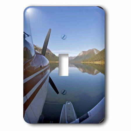 3dRose Alaska, Arctic NP, Float airplane, Lake Ernie - US02 BJA0287 - Jaynes Gallery, Single Toggle Switch
