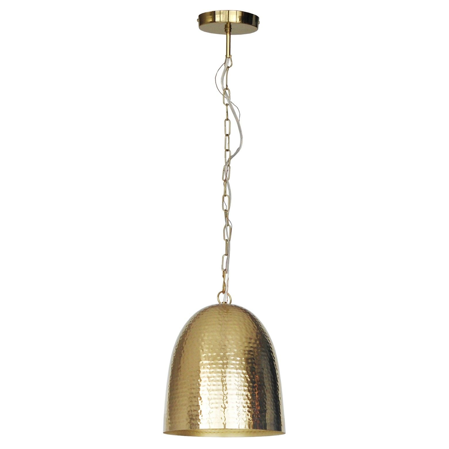 The Threshold Dome Hammered Metal Pendant Light Offers Lighting With A Global Feel This Ceiling Light Has An A Pendant Light Metal Pendant Light Metal Pendant