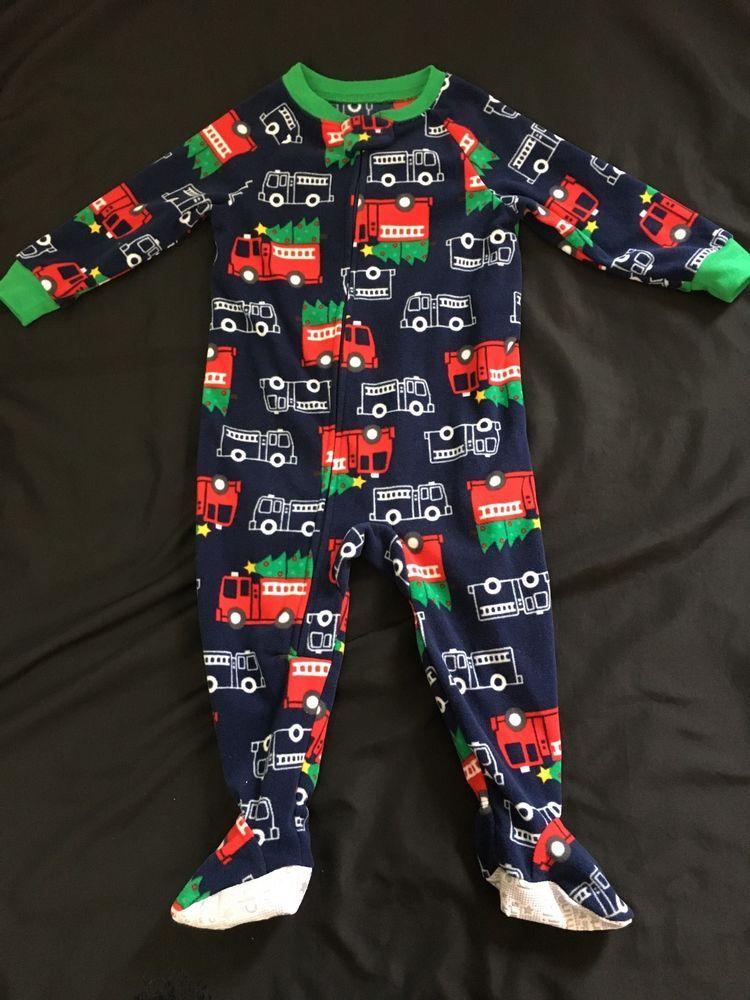 4aa4d8dd3e Child of Mine Carter s Baby Boy s 18 Months Fleece Sleeper Christmas  Firetrucks  ChildofMinebyCarters  OnePiece