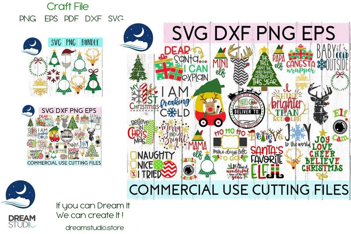 Huge Christmas Bundle Svg Dxf Png Eps Fi Graphic By Dream Studio Svg Christmas Bundle Eps