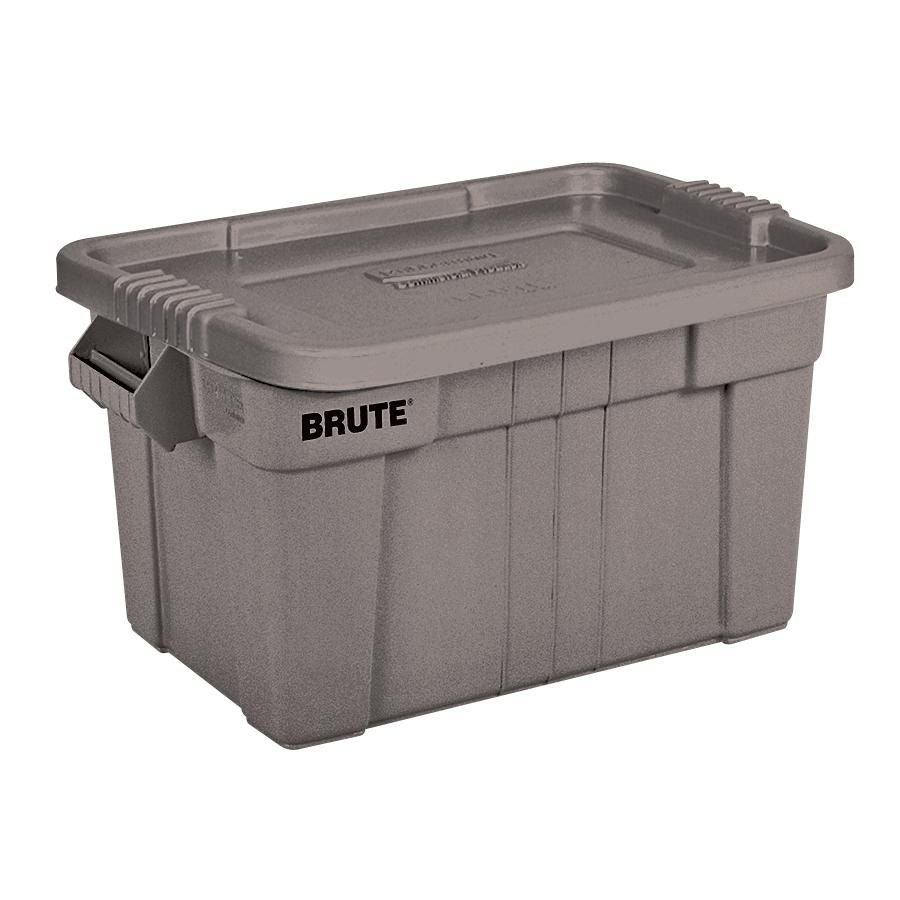 Rubbermaid 9S31 Gray Brute 20 Gallon NSF Tote with Lid (FG9S3100)