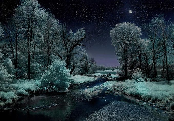 Beautiful Night Scene Nature Wallpaper Winter Pictures Nature Photography