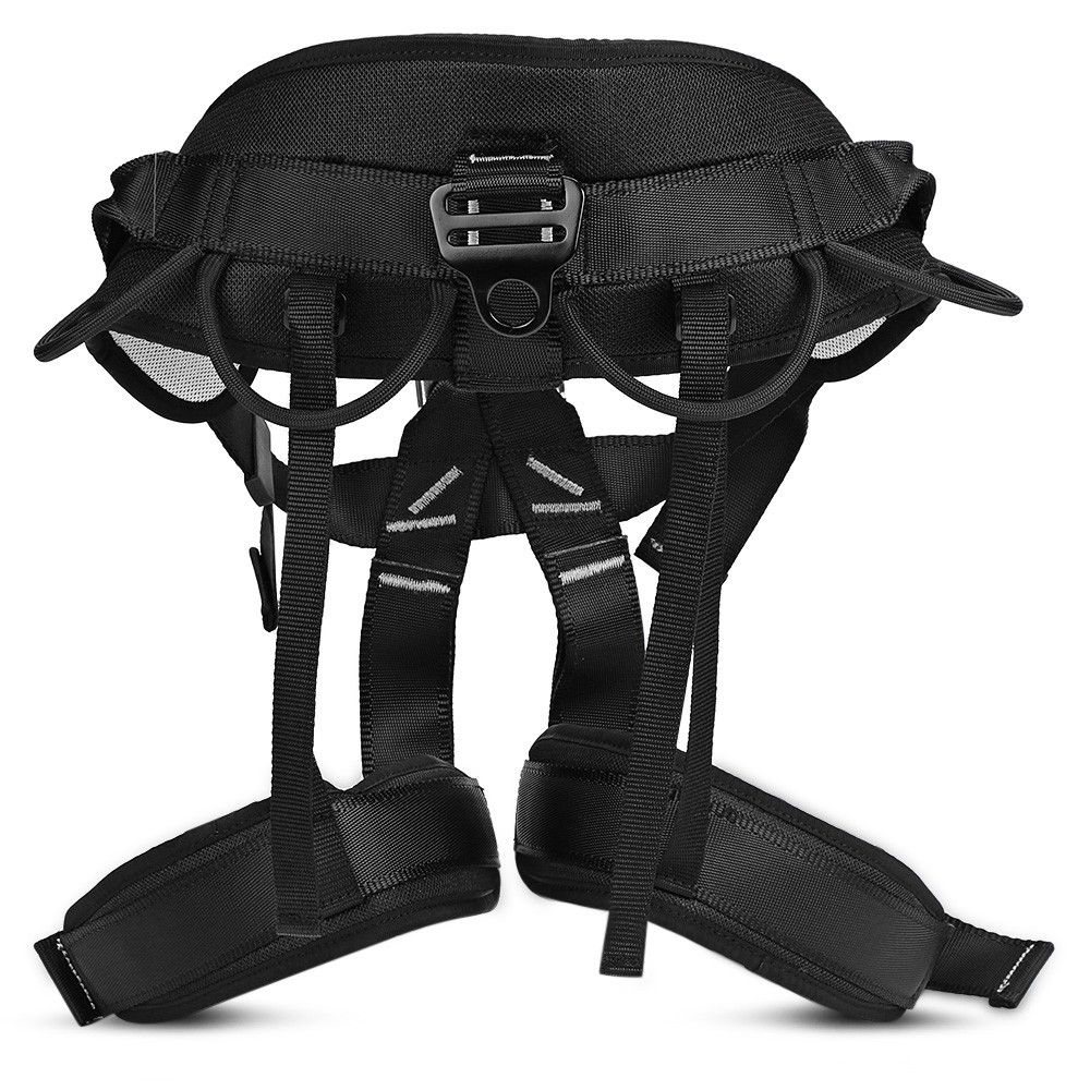 Rock Climbing Safety Belt Rappelling Equipment Black