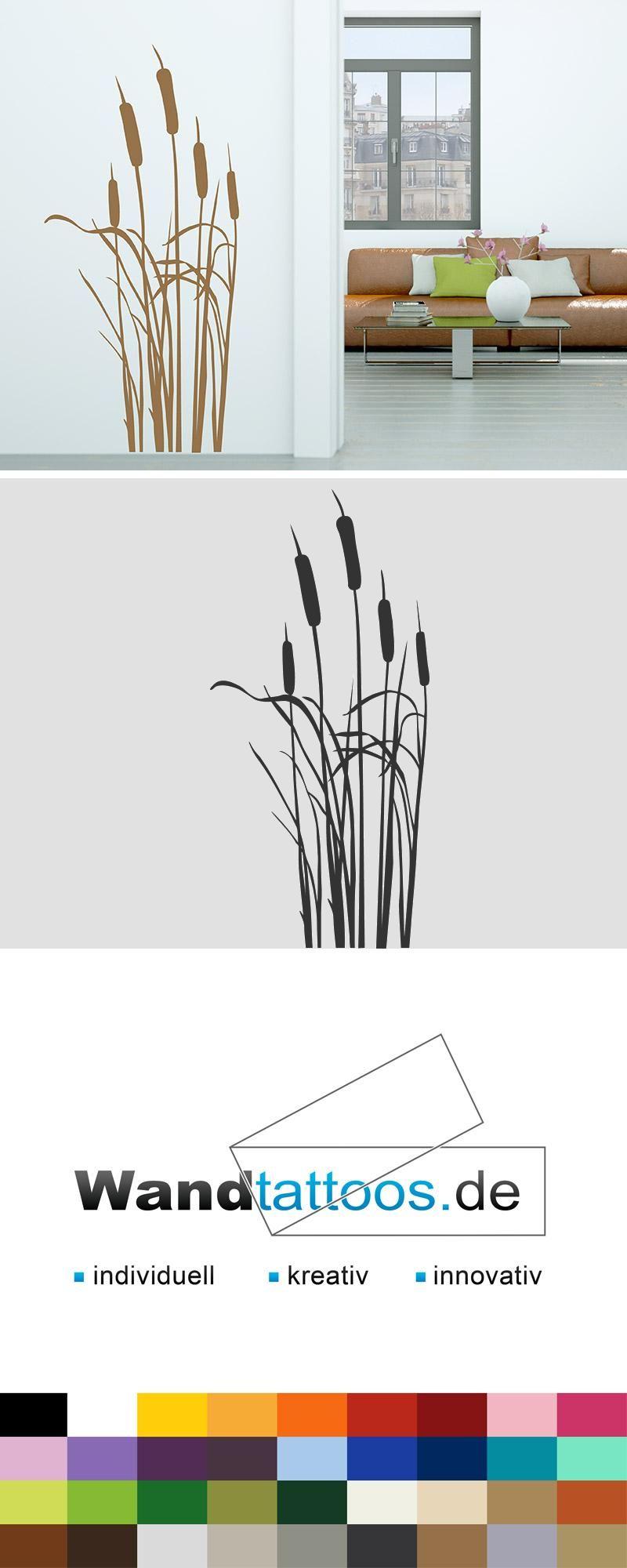 Faszinierend Wandtattoo Gras Referenz Von Gräser Mit Kleinem Schmetterling - Deko |