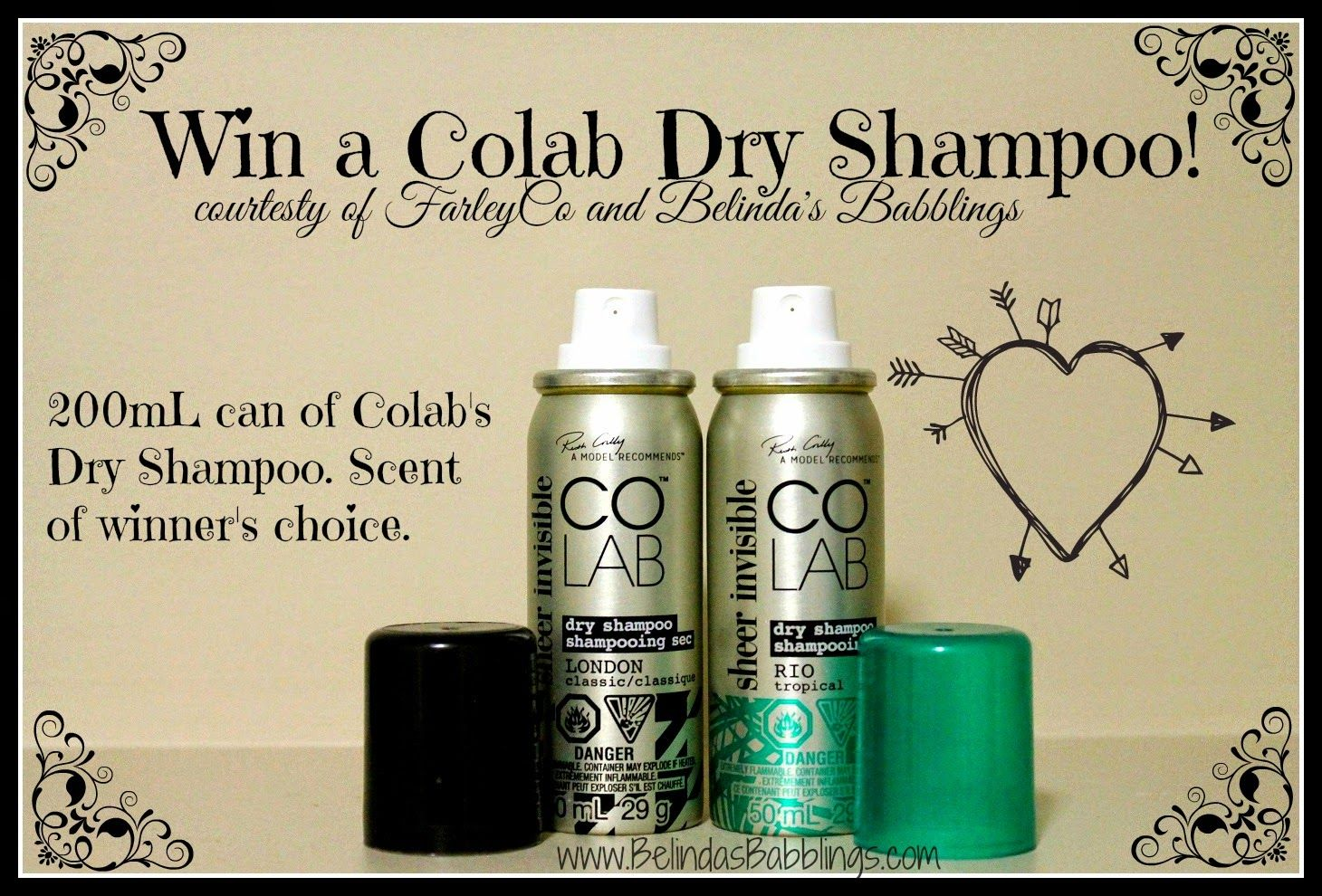 Win a Colab Invisible Dry Shampoo!