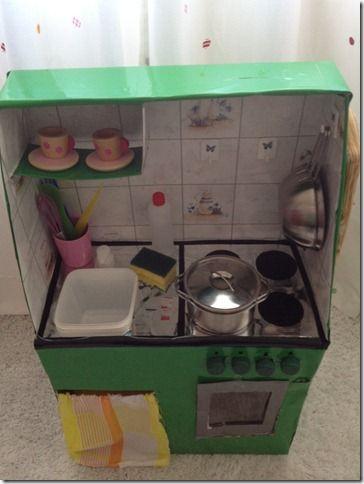 Come costruire una cucina per bambini con le scatole di cartone How ...