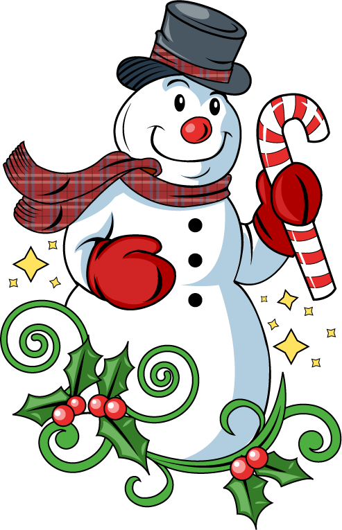 Christmas snowman clip art clipart