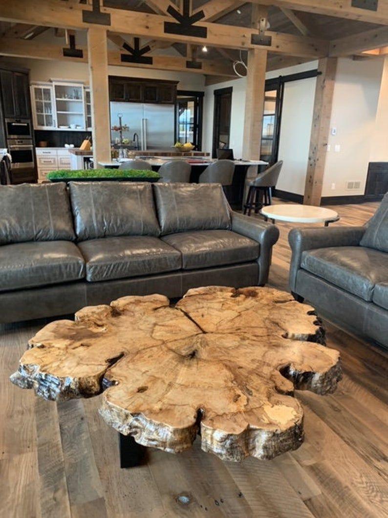 Live Edge Table Live Edge Coffee Table Wood Slab Table Large Etsy Coffee Table Wood Wood Slab Table Tree Coffee Table [ 1059 x 794 Pixel ]