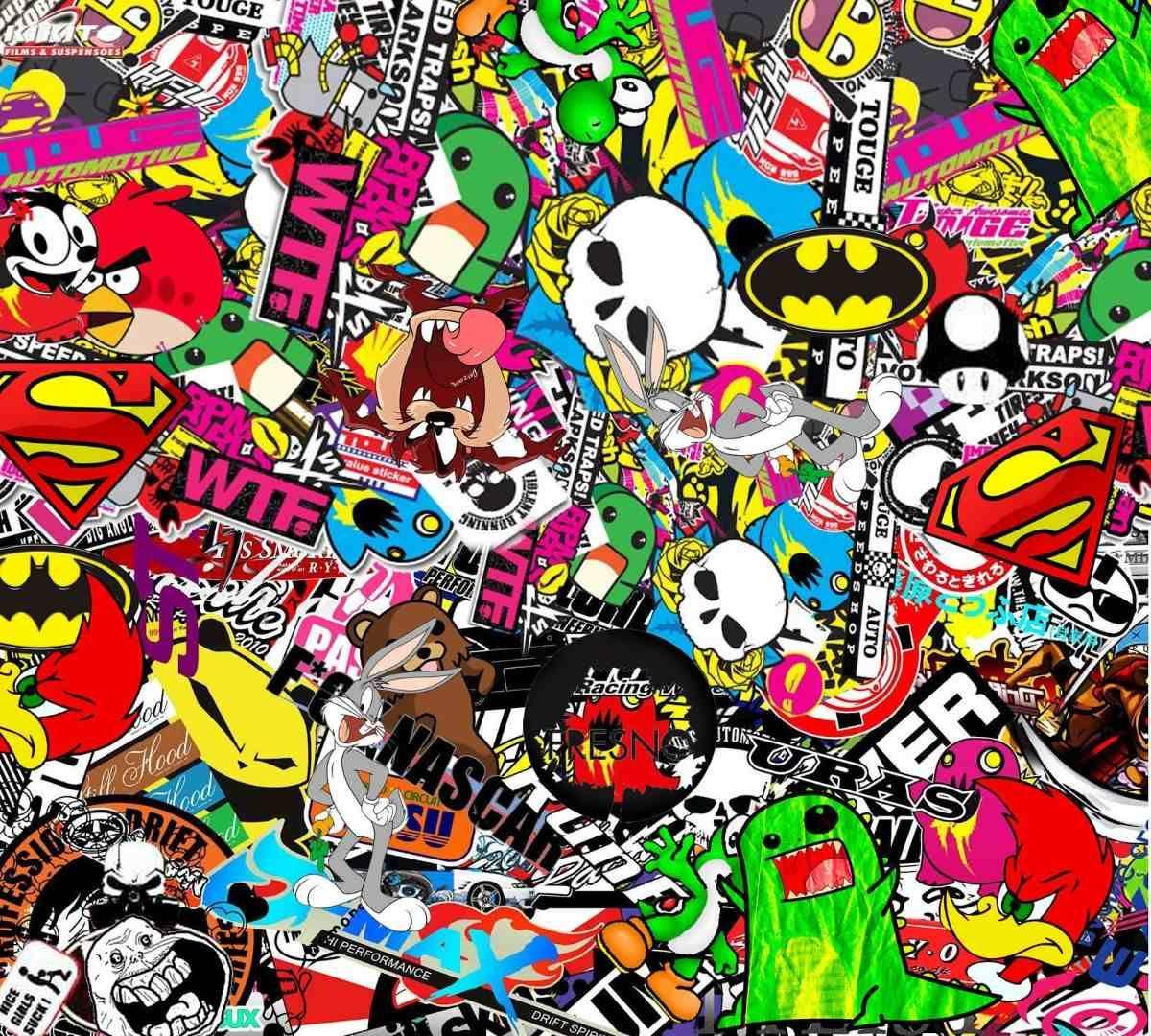 sticker bomb wallpaper