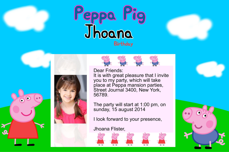 Peppa pig birthday invitations ebay party invitations pinterest peppa pig birthday invitations ebay filmwisefo
