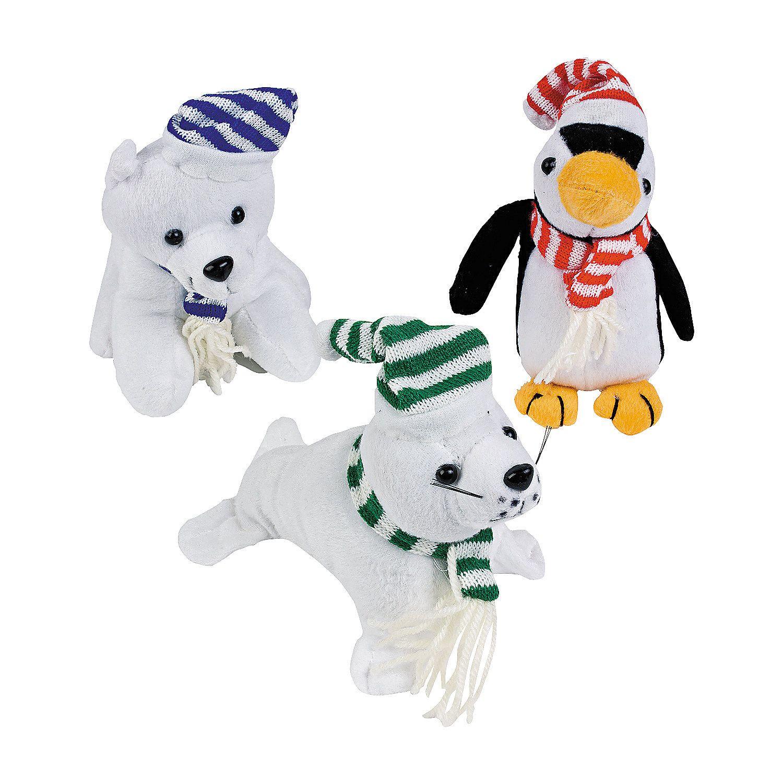 Plush Realistic Arctic Animal Bean Bags OrientalTrading