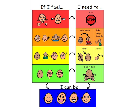 Great emotion thermometer...we already use the voice volume thermometer.  LOVE that it has strategies using the If...Then model.