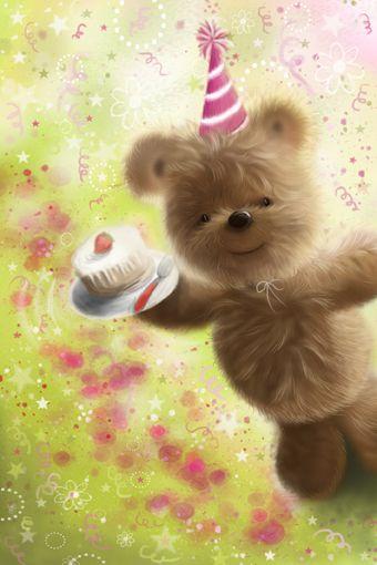 Happy birthday cute teddy bear www.aleartstudio.co by Alessandro Scanziani Artist