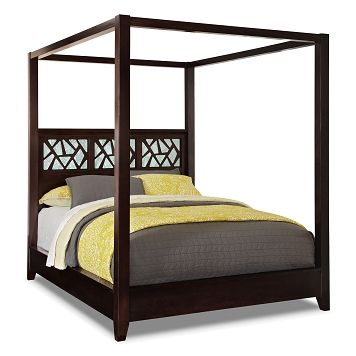 esprit bedroom king canopy bed value city furniture 799 20052 | 0cdc70ab54b925531f4f6331dbc95fe6