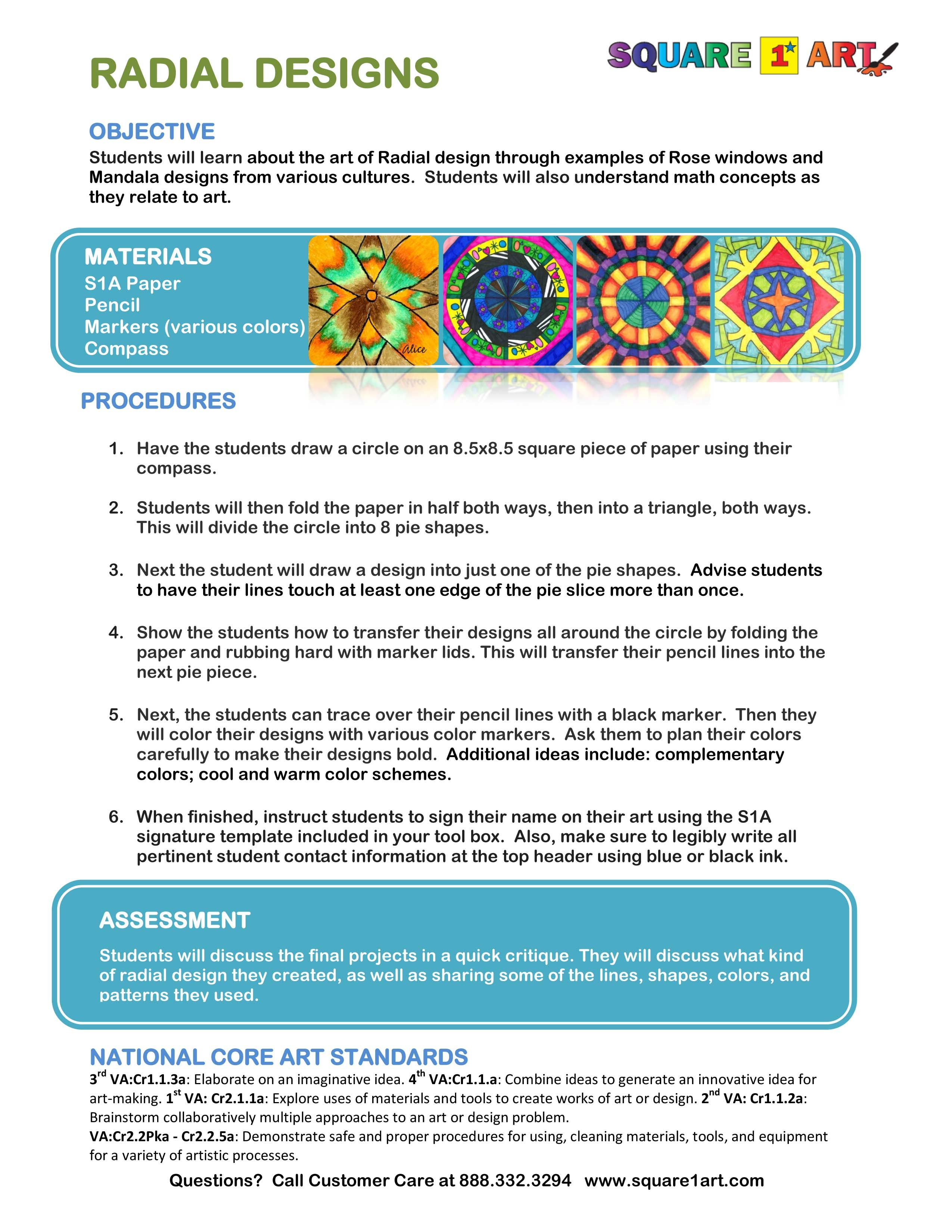 Radial Designs Easy And Profitable Art Fundraiser Square1art
