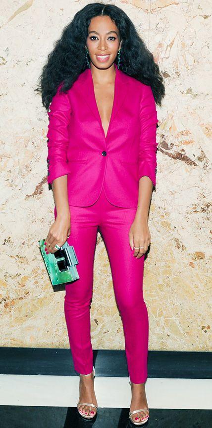 June 5, 2014 | Fashion, Solange knowles, Pink suit