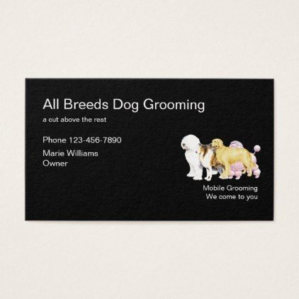 Best Dog Grooming Design Business Card Zazzle Com Dog Grooming Business Card Design Stylist Business Cards