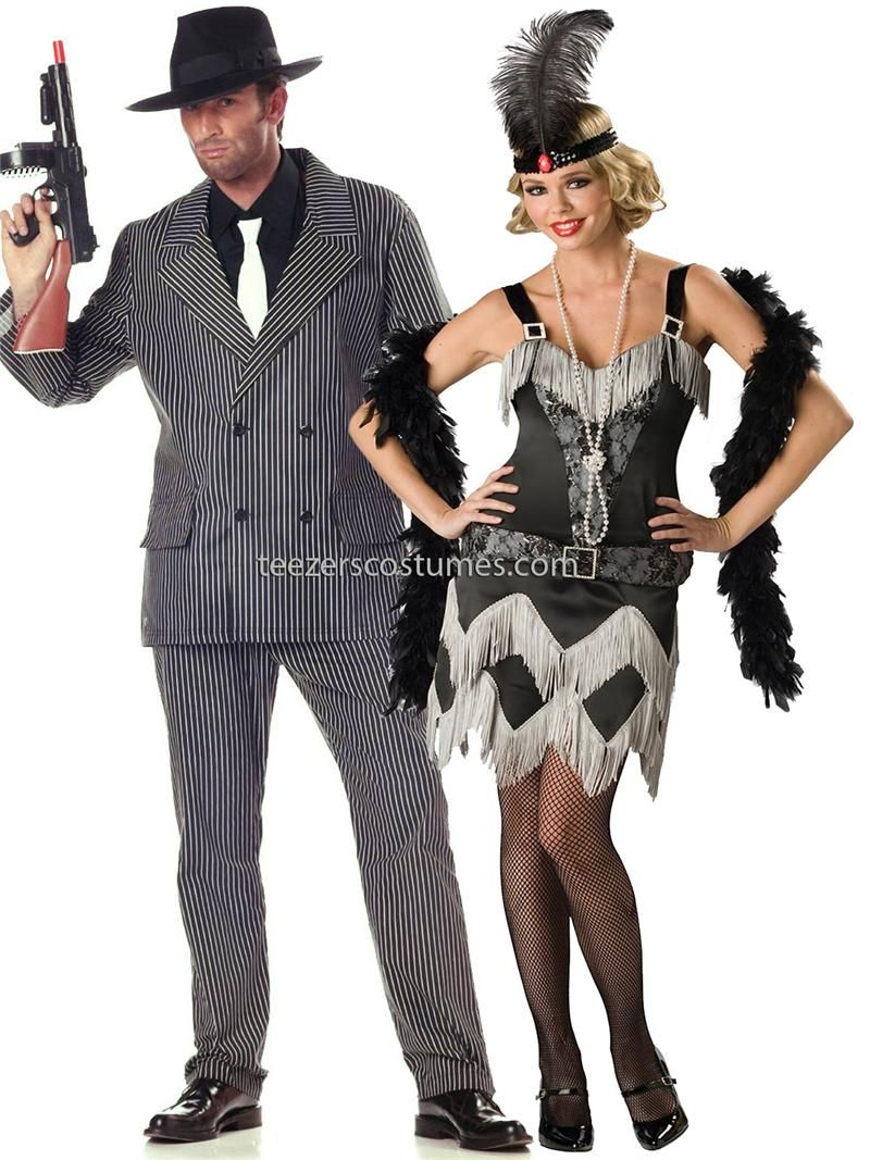 Gatsby Couples Costumes,1920s Couples Adult Halloween