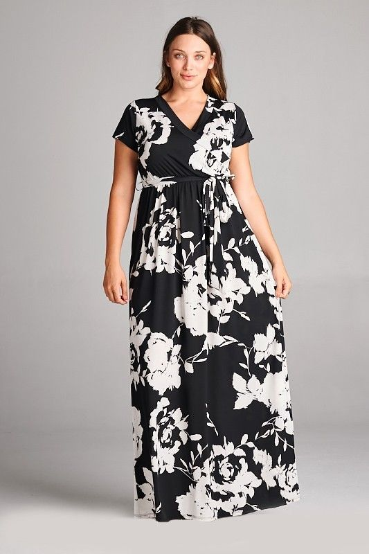 0ae985c34442 Kelly Brett Boutique - Plus Size Glamour Maxi Dress Black, $50.00 (https:/