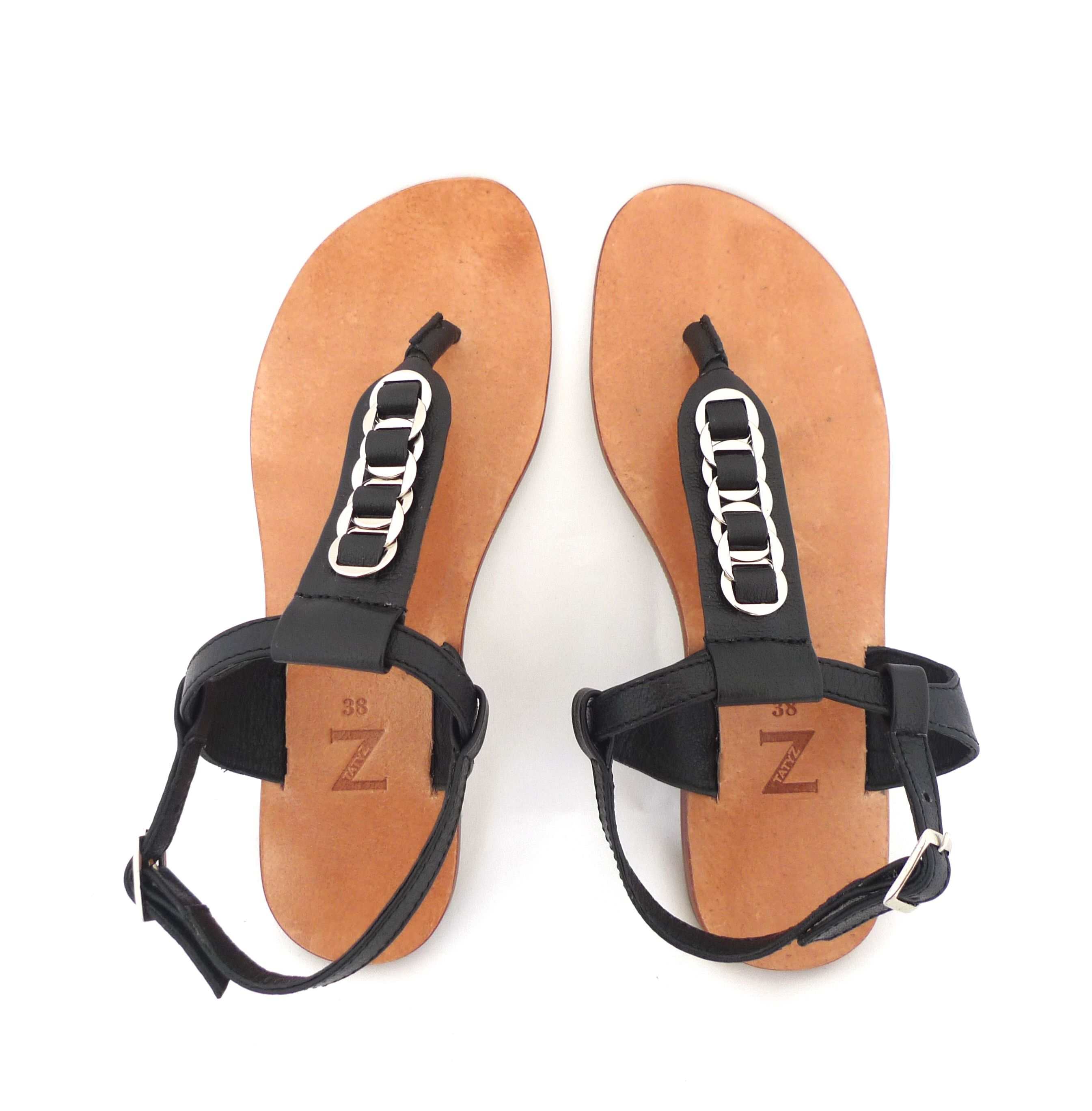 3aa750432501 Woven leather   ring black leather flat women arabic sandals ...