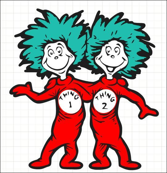 Image result for cat in the hat twins clip art