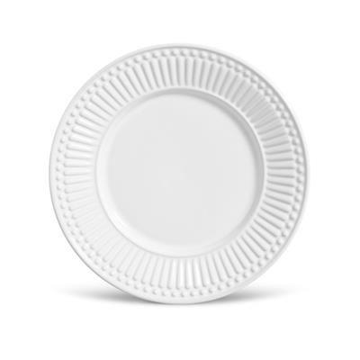Prato de Sobremesa Roma 20cm Branco - Porto Brasil