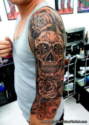 Sugar Skull Skull Tattoo Tattoo Ideen Mexikanisches Tattoo