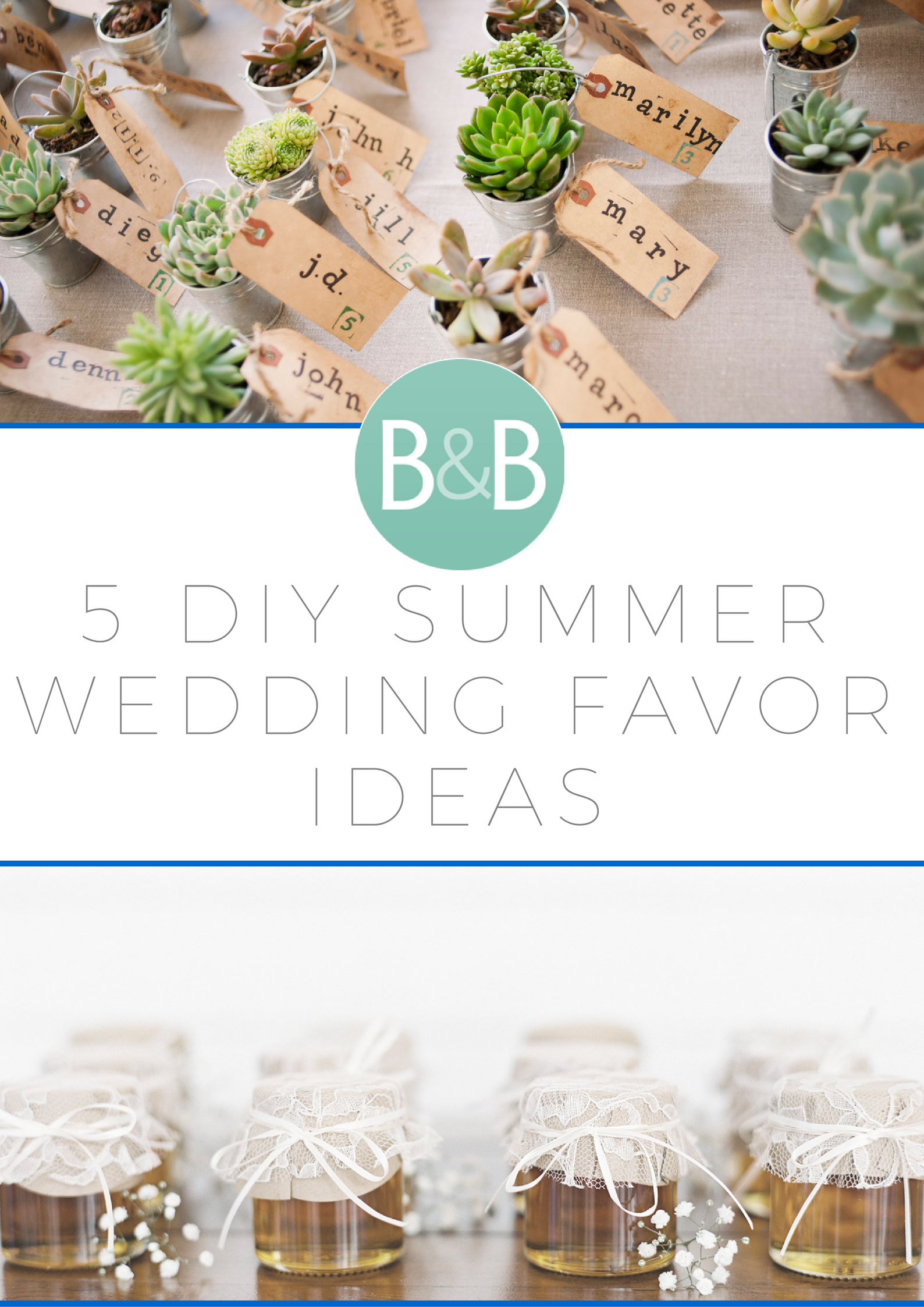 5 diy summer wedding favor ideas | diy summer weddings, summer