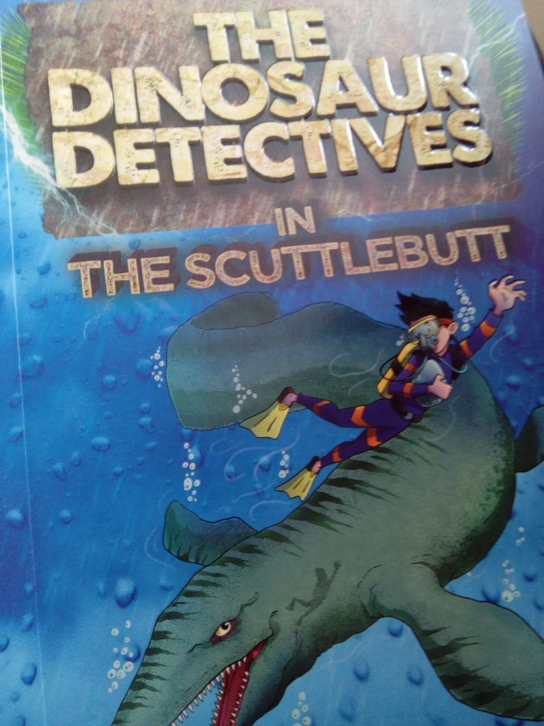 i was sent a set of 4 books named the dinosaur detectives to review
