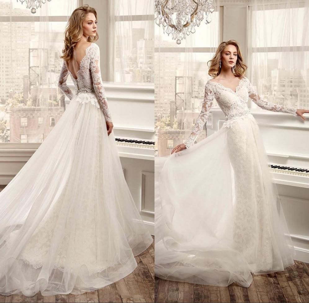 Cheap vintage modest wedding gowns capped sleeves empire waist plus