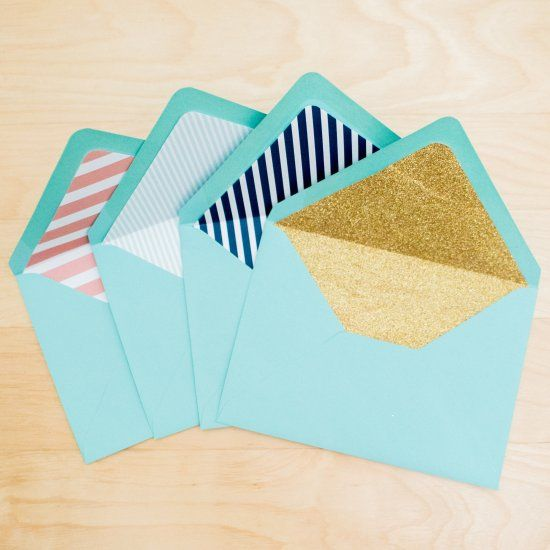 A simple, easy to follow tutorial to create custom envelope liners. Add a little extra pizazz to any piece of mail! Photos by Mikkel Paige