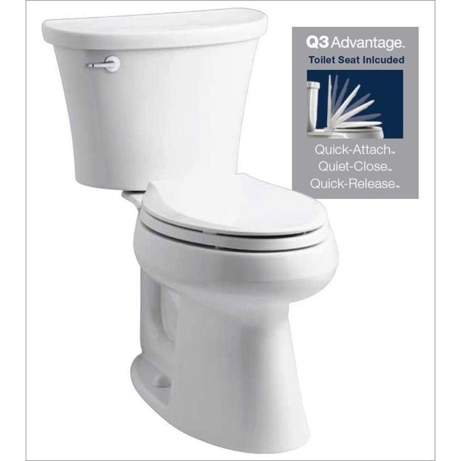 Kohler Cavata White Watersense Labeled Dual Elongated Chair Height 2 Piece Toilet 12 In Rough In Size Water Sense Toilet Guest Bathroom Remodel