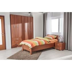 Photo of Schlafzimmer Komplett – Set I Muros, 4-teilig, teilmassiv, Farbe: Kirsche Easy Möbel