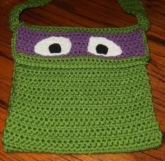 Crocheted Teenage Mutant Ninja Turtle Crossover Sling Purse by ...